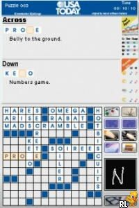 USA Today Crossword Challenge (U)(Independent) Screen Shot