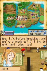 Harvest Moon DS - Island of Happiness (E)(XenoPhobia) Screen Shot