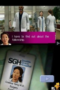 Grey's Anatomy - The Video Game (EU)(M5)(DDumpers) Screen Shot