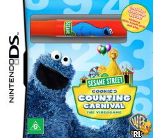 Sesame Street - Cookie's Counting Carnival - The Videogame (A) Box Art