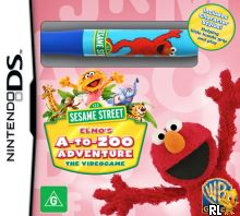 Sesame Street - Elmo's A-to-Zoo Adventure - The Videogame (A) Box Art