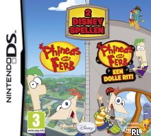 Phineas and Ferb - 2 Disney Games (DSi Enhanced) (E) Box Art